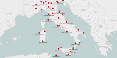 Aeropuertos De Italia Mapa.Italia Region Mapa Mapa De Italia Y De Las Regiones Sur